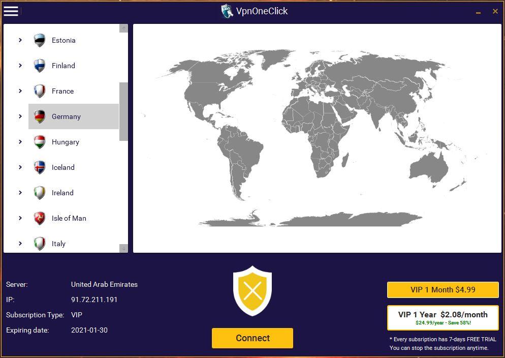 vpnoneclick_windows_screenshoot
