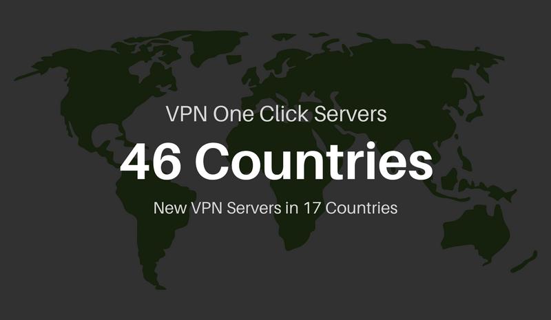 VPN servers in 46 countries