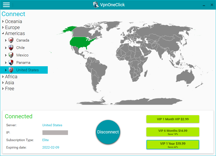 VPN One Click Windows Upgraded